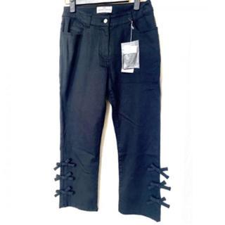 ギャラリービスコンティ(GALLERY VISCONTI)の新品 サイズ1 ブラック 黒 リボン パンツ デニム(デニム/ジーンズ)