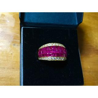 189万円 上質なミステリーセッティングリング ルビー&ダイヤモンド (リング(指輪))