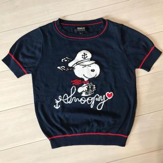 スヌーピー(SNOOPY)のSNOOPY ニット半袖(Tシャツ(半袖/袖なし))