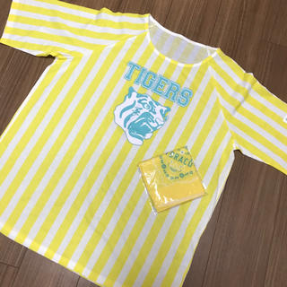 ハンシンタイガース(阪神タイガース)の【非売品】TORACO×グランフロント大阪 BIG Tシャツ+バンダナセット(応援グッズ)