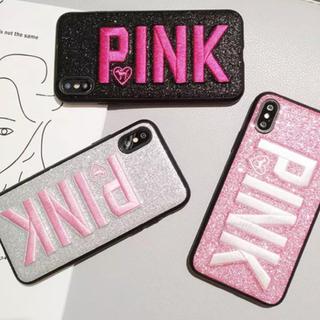 ヴィクトリアズシークレット(Victoria's Secret)のPINK 刺繍iPhoneケ–ス(iPhoneケース)