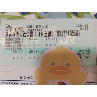 ジェイアール(JR)の青春18きっぷ 4回分 返送不要(鉄道乗車券)