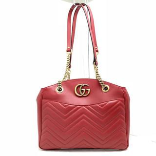 グッチ(Gucci)のGUCCI グッチ GG マーモント トート ショルダーバッグ 443501 赤(トートバッグ)
