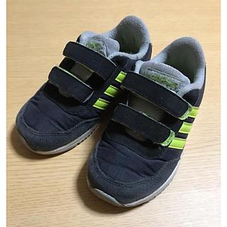 アディダス(adidas)のadidas アディダス スニーカー 14cm 黒 難あり(スニーカー)