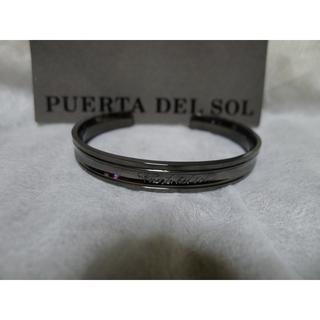 プエルタデルソル(PUERTA DEL SOL)のPUERTA DEL SOL バングル プレーン ブラック(バングル/リストバンド)