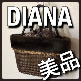 ダイアナ(DIANA)の3点おまとめ  DIANA ダイアナ かごバッグ ハンドバッグ ブラウン(かごバッグ/ストローバッグ)