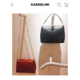 キャセリーニ(Casselini)のキャセリーニ ル ベル二 ヴィンテージ風型押しバッグ(ショルダーバッグ)