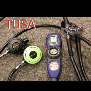 ツサ(TUSA)のTUSA レギュレーターセット スキューバダイビング ツサ ダイコン付き(マリン/スイミング)