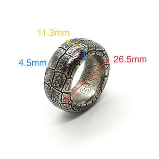 レディス メンズ  フェイク クロコダイル リング シルバー 銀 黒 ブラック(リング(指輪))