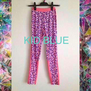 キッドブルー(KID BLUE)の【ジムウェア】ドットスパッツ(ピンク)/ランニング・ヨガ(KID BLUE)(レギンス/スパッツ)