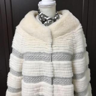 えみ様 専用  カシミアとミンクのAラインコート(毛皮/ファーコート)