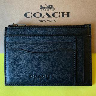 コーチ(COACH)の【新品】コーチ Coach マルチカードケース 財布 レザー ブラック(コインケース/小銭入れ)