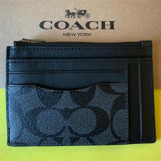 コーチ(COACH)の【新品】コーチ Coach マルチカードケース 財布 レザー シグネチャー(コインケース/小銭入れ)