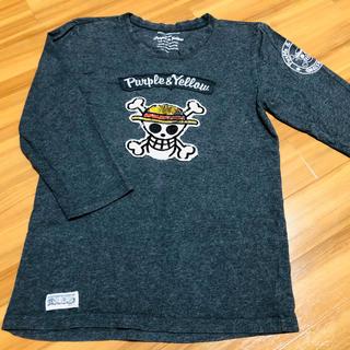 コムサイズム(COMME CA ISM)のPurple&YellowとONEPIECEのコラボ七分丈Tシャツ 送料込み(Tシャツ/カットソー(七分/長袖))