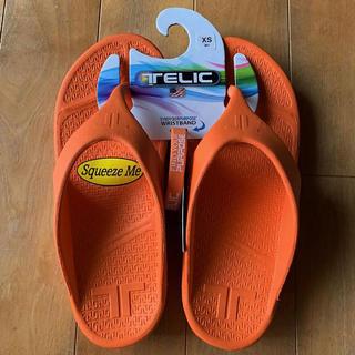 ビルケンシュトック(BIRKENSTOCK)の☆新品 TELIC テリックサンダル XS 24㎝ オレンジ リストバンド付き(サンダル)