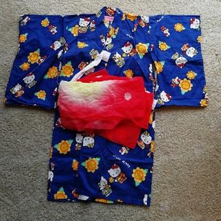 ハローキティ(ハローキティ)の浴衣 女の子 100㎝(甚平/浴衣)