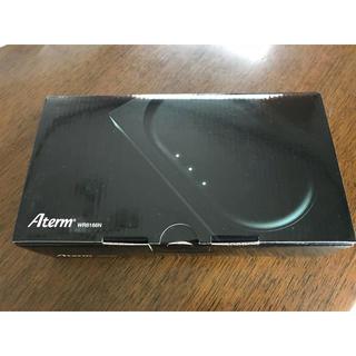 エヌイーシー(NEC)の新品 小型WiFiルーター Aterm WR8166N ブラック(PC周辺機器)