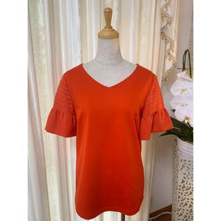 バーニーズニューヨーク(BARNEYS NEW YORK)のバーニーズニューヨーク 半袖 オレンジ 40(Tシャツ(半袖/袖なし))