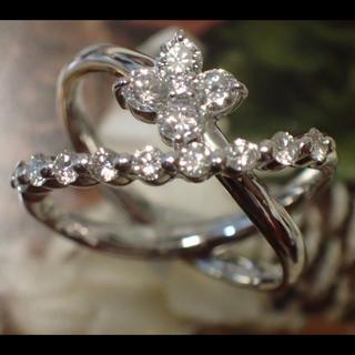 ポンテヴェキオ(PonteVecchio)のポンテヴェキオ K18 WG ダイヤモンド 0.80ct 花 リング(リング(指輪))