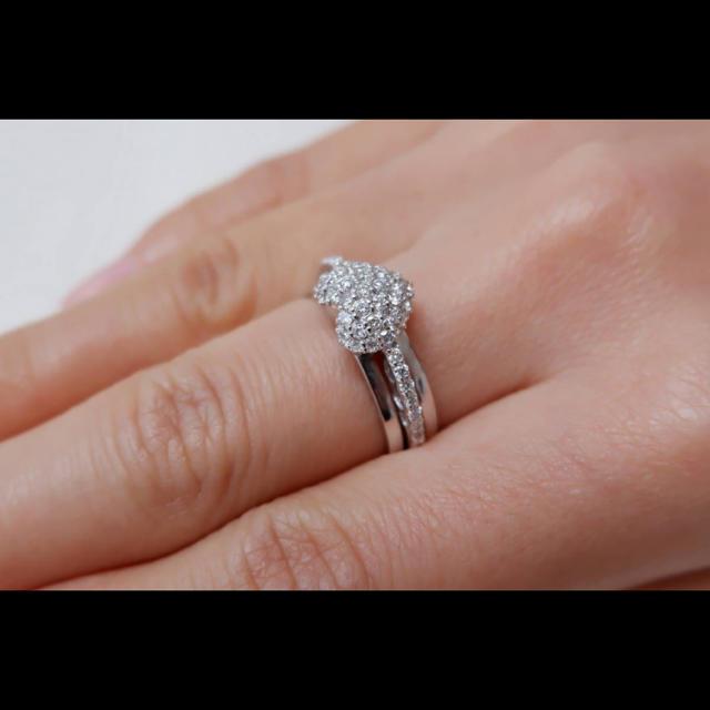 PonteVecchio(ポンテヴェキオ)のポンテヴェキオ K18 WG ハート パヴェ ダイヤモンド 0.51ct リング レディースのアクセサリー(リング(指輪))の商品写真