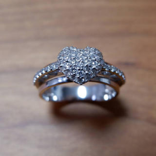 ポンテヴェキオ(PonteVecchio)のポンテヴェキオ K18 WG ハート パヴェ ダイヤモンド 0.51ct リング(リング(指輪))