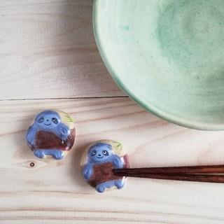 ナマケモノ 箸置きセット(キッチン小物)