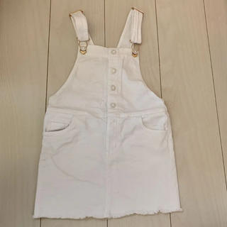 エイチアンドエム(H&M)のデニムジャンパースカート H&M(ワンピース)