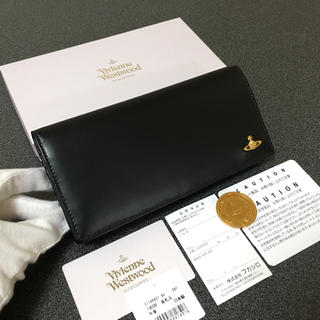 ヴィヴィアンウエストウッド(Vivienne Westwood)の★新品★ヴィヴィアンウエストウッド  長財布  ブラック  二つ折り(財布)