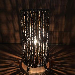 イケア(IKEA)のフロア スタンド ライト 床置き 間接照明 天然木 アジアン (フロアスタンド)