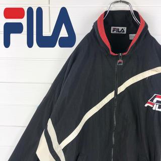 アディダス(adidas)のフィラ FILA ナイロンジャケット 胸ロゴ 刺繍ロゴ ゆるだぼ(ナイロンジャケット)