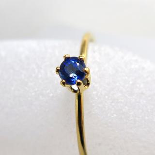 14kgf 天然石 ブルーカイヤナイト 3mm リング(リング(指輪))