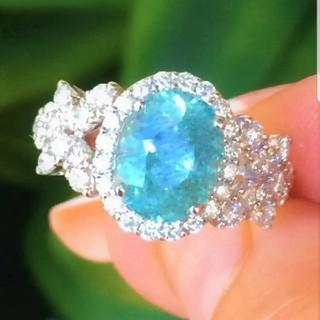 GIA♡ブラジル産パライバトルマリンバタフライダイヤモンドリング(リング(指輪))