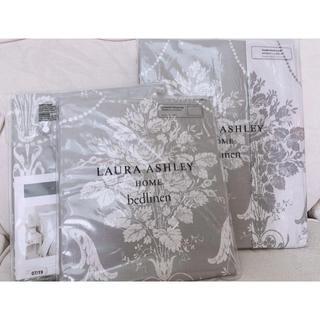 ローラアシュレイ(LAURA ASHLEY)の新品未使用ローラアシュレイジョゼッテダブルベッドカバー&ピローケース3点セット(シーツ/カバー)