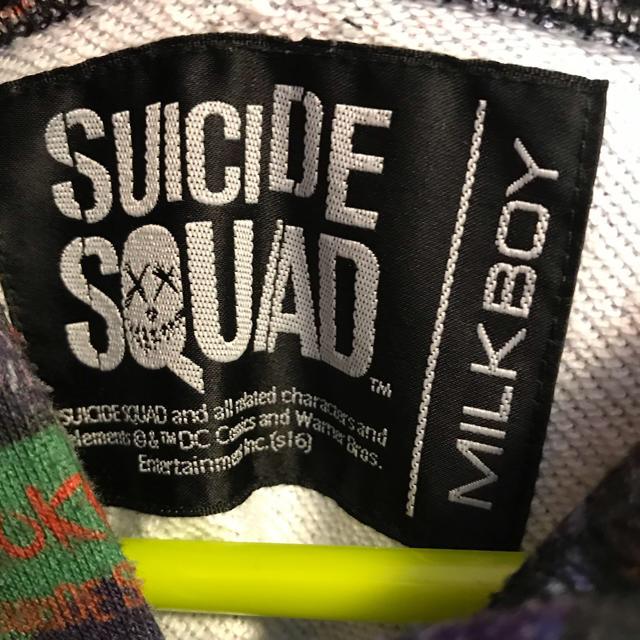 MILKBOY(ミルクボーイ)のミルクボーイ パーカー SUICIDE SQUAD  美品 レディースのトップス(パーカー)の商品写真