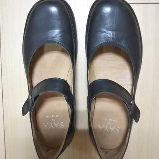サヤ(SAYA)の9/25まで SAYA ストラップシューズ 23.0 (ローファー/革靴)
