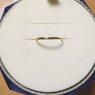 ココシュニック(COCOSHNIK)のk18 ゴールド ピンキーリング サイズ2(リング(指輪))