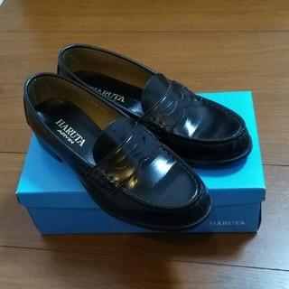ハルタ(HARUTA)のココア様 HARUTA ローファー 4514  黒 24.5cm(ローファー/革靴)
