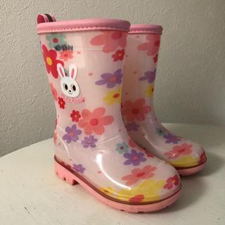 ミキハウス(mikihouse)のミキハウス ピンクレインブーツ 14.0(長靴/レインシューズ)