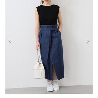 イエナ(IENA)のサイズ40  タックラップスカート(ロングスカート)