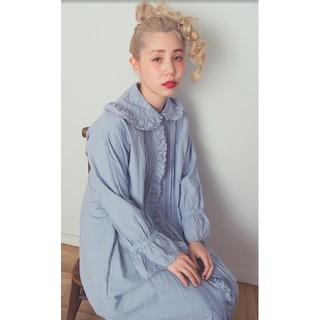 ロキエ(Lochie)の❣️【SMILE embroidery dress】❣️ ブルーグレー(ロングワンピース/マキシワンピース)