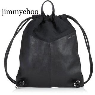 ジミーチュウ(JIMMY CHOO)のJIMMY CHOO MARLON バックパック スタースタッズ付 ブラック(バッグパック/リュック)
