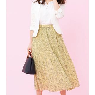 エニィスィス(anySiS)のanysis☆ 【洗える】プチフラワースパンローン スカートのみ、美品(ロングスカート)