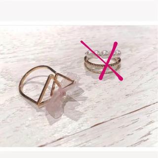 フラワー(flower)のシフォンリボンリング 指輪(リング(指輪))