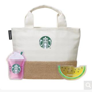 スターバックスコーヒー(Starbucks Coffee)のラスト1点 新品未使用♡スタバ 保冷トートバックとオリジナルデザインの保冷剤(日用品/生活雑貨)