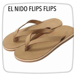 ドゥーズィエムクラス(DEUXIEME CLASSE)の新品未使用 EL NIDO FLIPS FLIPS キャメル(サンダル)