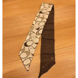 コーチ(COACH)のコーチ スカーフ 美品(バンダナ/スカーフ)