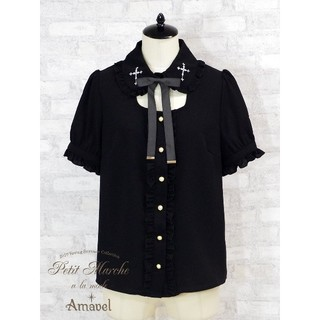 アマベル(Amavel)の【つき様専用】新品 Rosary付衿風ブラウス(シャツ/ブラウス(半袖/袖なし))