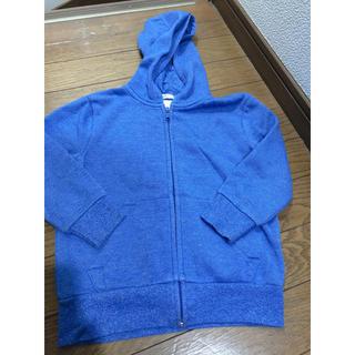 エイチアンドエム(H&M)のH&M 98〜104cm ブルー裏起毛パーカー(ジャケット/上着)
