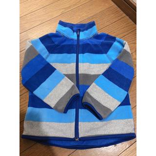 エイチアンドエム(H&M)のH&M ブルーボーダーフリース パーカー 92cm(ジャケット/上着)