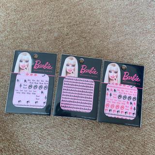 バービー(Barbie)のバービー♡ネイルシール♡3種セット♡Barbienail(ネイル用品)